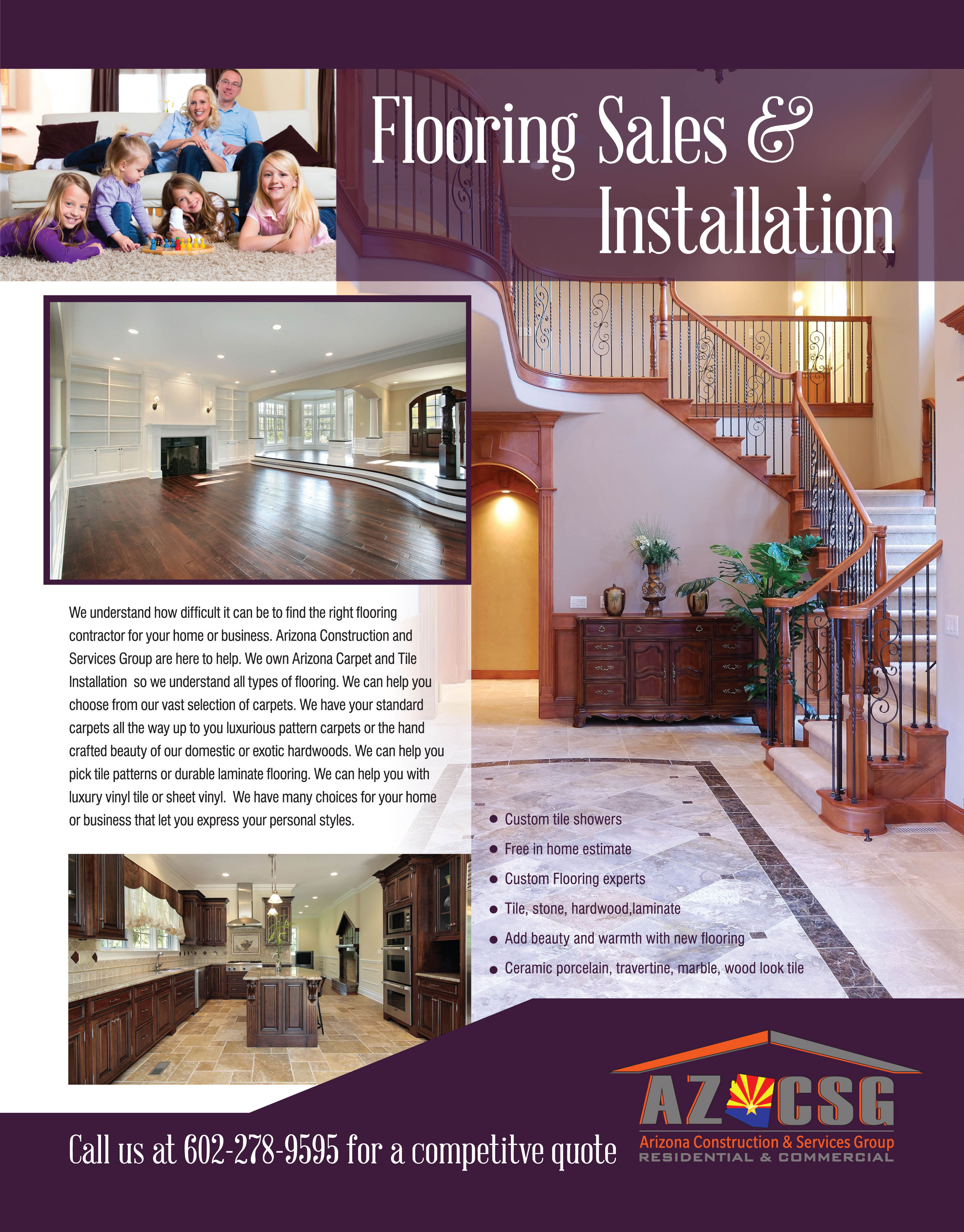 Flooring Sales & Installation Ahwatukee, Avondale, Scottsdale, Gilbert, Chandler, Laveen, Glendale, Carefree, Sun City, Peoria, Goodyear, Youngtown, El Mirage, Phoenix, Tempe, Litchfield park , Surprise, Waddell, Mesa, Anthem